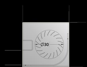30mm crossflow fan by Airtek