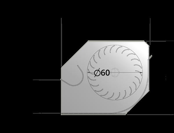 60mm crossflow fan by Airtek