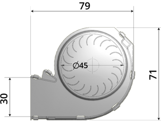 45mm crossflow fan by Airtek