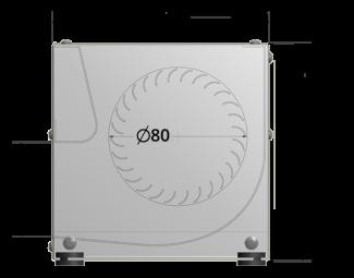 80mm crossflow fan by Airtek